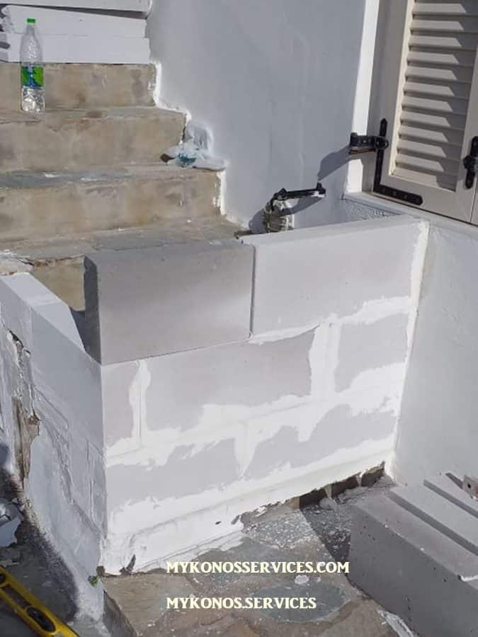 Οικοδομικές Εργασίες Μύκονος Κατασκευαστικές 10 πισινες 111 μερεμετια
