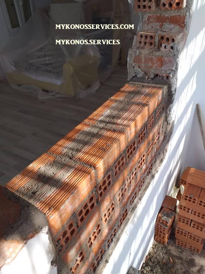 Οικοδομικές Εργασίες Μύκονος Κατασκευαστικές 10 πισινες 111 μερεμετια 93
