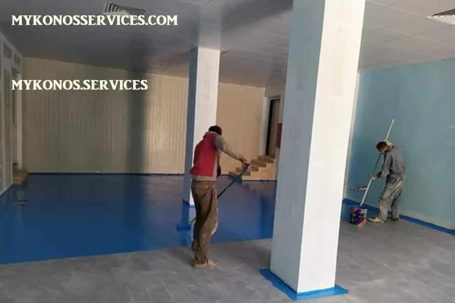 mykonos services - ελαιοχρωματισμοί Μύκονος - decorative services Mykonos 4
