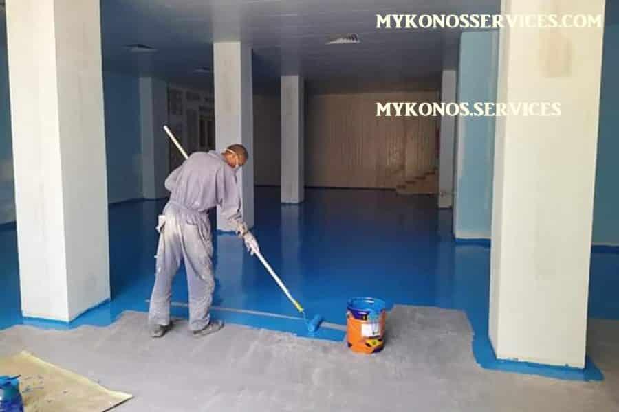 mykonos services - ελαιοχρωματισμοί Μύκονος - decorative services Mykonos 2